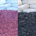Red and Black Colored Mulches